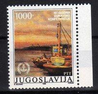 Joegoslavie Yugoslavia Jugoslavija 1988 40 Jaar Donauconferentie Donau Conference MNH - Idee Europee