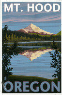 Stratovolcano Mount Hood ,  Oregon, Postcard Sent To Andorra,with Arrival Postmark - Etats-Unis