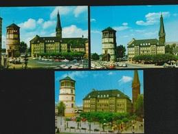AK Düsseldorf Am Rhein X3, Burgplatz Mit Schloßturm, Blick Auf Schlossturm, Alle 3 Sind NEU, 2 Scans, Normalformat - Duesseldorf