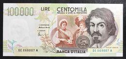 100000 Lire CARAVAGGIO 2° TIPO SERIE E 1998 Fds LOTTO 1476 - [ 2] 1946-… : République