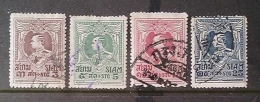 [811816] O/Used-Siam 1922 - N° 172/175, Roi Vajiravudh, SC - Siam