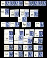 N°29M, MONTREUIL-BELLAY (Maine Et Loire), Mercure 10c Bleu, Lot De 27 Exemplaires TB  Qualité: **  Cote: 972 Euros - Liberation