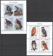 L944 2011 S.TOME E PRINCIPE FAUNA BIRDS OWLS 4913-20 MICHEL 26 € 2KB MNH - Adler & Greifvögel