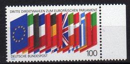 Deutschland 1989 EUROPEAN PARLIAMENT ELECTIONS 3eme élection Du Parlement Européen MNH - Idee Europee