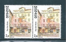 Timbres De Monaco De 1989 N°1670 En Paire Neufs ** Gomme Parfaite - Monaco