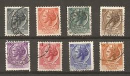 Italie 1953/54 - Monnaie Syracusienne - Filigrane A - Roue Ailée - Petit Lot De 8 Timbres° Dont Key Value YT 654 - Vrac (max 999 Timbres)