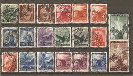 Italie 1945/48 - Symboles Nationaux - Petit Lot De 20 Timbres° Avec Nuances - Olivier - Famille - Flambeau - Italia - Vrac (max 999 Timbres)
