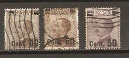 Italie 1923 - Victor Emmanuel III - Petit Lot De 3° Surchargés - YT 132/133 - Vrac (max 999 Timbres)