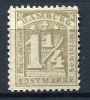 19433) HAMBURG # 12 B Ungebraucht Aus 1864, 10.- € - Hambourg