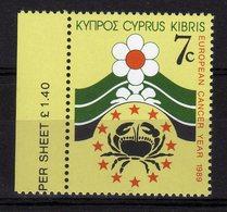 Cyprus 1989 European Cancer Year MNH - Idee Europee
