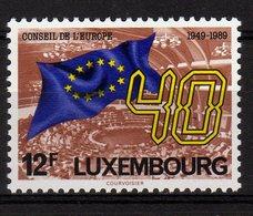 Luxembourg 1989 40 Ans Du Conseil De L'Europe MNH - Idee Europee