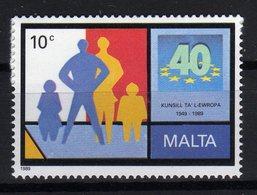 Malta 1989 40 Ans Du Conseil De L'Europe 40th Ann. Of Council Of Europe 40 Jahre Europarat MNH - Idee Europee