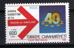 Turkei 1989 40 Ans Du Conseil De L'Europe 40th Ann. Of Council Of Europe 40 Jahre Europarat MNH - Idee Europee