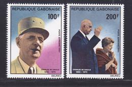 GABON AERIENS N°  240 & 241 ** MNH Neufs Sans Charnière, TB (D7447) Charles De Gaulle - Gabon