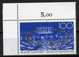 Deutschland 1989 40 Ans Du Conseil De L'Europe 40th Ann. Of Council Of Europe 40 Jahre Europarat MNH - Idee Europee