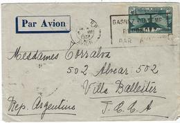 France, N° 321 Sur Lettre Pour L'Argentine Par Avion, Le 19 / 6 / 1937 - Marcophilie (Lettres)