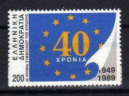 Hellas Greece 1989 40 Ans Du Conseil De L'Europe 40th Ann. Of Council Of Europe 40 Jahre Europarat MNH - Idee Europee