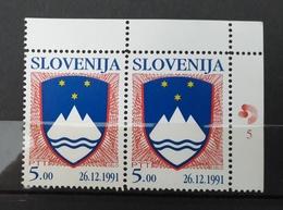 SLOVENIA 1991 Coat Of Arms  Michel 4 MNH - Slovénie