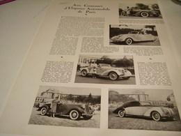ANCIENNE PUBLICITE CONCOURS D ELEGANCE AUTOMOBILE DE PARIS 1939 - Cars