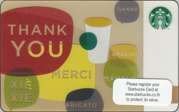 Thailand Starbucks Card  Thank You - 2010 - 6067 - Gift Cards