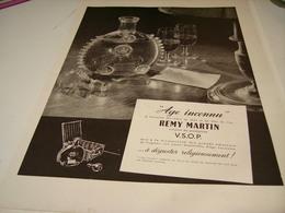 ANCIENNE PUBLICITE  COGNAC AGE INCONNU DEREMY MARTIN 1951 - Alcohols