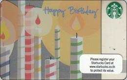 Thailand Starbucks Card Happy Birthday - 2010 - 6067 - Gift Cards