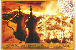 UAE, Our Identity, Heritage & Originality. Postcard UAR Posted Abu Dhabi, Sent To Andorra, With Arrival Postmark - Emirats Arabes Unis