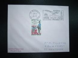 LETTRE TP JOURNEE DU TIMBRE 0,40+0,10 OBL.MEC.2-4 1970 31 BLANGNAC HTE GARONNE AEROPORT De MIDI-PYRENEES - Marcophilie (Lettres)