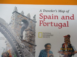 Carte Historique Et Géographique/ A Traveler's Map Of SPAIN And PORTUGAL/National Geographic Society/ 1998   PGC220 - Sonstige