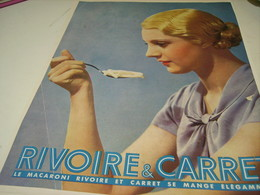 ANCIENNE PUBLICITE PATE ALIMENTAIRE RIVOIRE & CARRET 1950 - Posters