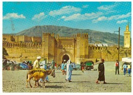 CPM.Maroc. Fès. Bab Chorfa. Bonne Animation. - Fez (Fès)