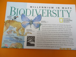 Carte D'Evolution Biologique/ Biodiversity/ Millenium In Maps/National Geographic Society/ 1998   PGC221 - Cartes