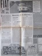 Essai De La FIAT  1100 R - Voitures
