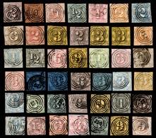 Tour Et Taxis Belle Collection De 42 Timbres Anciens Oblitérés 1851/1867. Bonnes Valeurs. A Saisir! - Tour Et Taxis