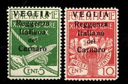 Arbe Et Veglia YT N° 11/12 Neufs ** MNH. TB. A Saisir! - Occupation 1ère Guerre Mondiale