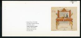 "CARTE PUB 12,5 X 27,5  - ""PROJET DE TABLE DE TOILETTE"", CHARLES PERCIER - Profumi & Bellezza"