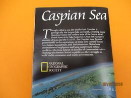 Carte Historique Et Géographique/CASPIAN SEA/ La Mer Caspienne//National Geographic Society/ 1998   PGC222 - Cartes