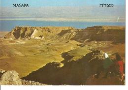 POSTAL ISRAEL MASADA VISTA GENERAL Y MAR MUERTO - Israel