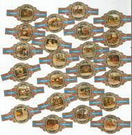 24 BAGUES  DE CIGARES :  LUGANO , SERIE 19  DU N° 1 A 24 - Cigar Bands