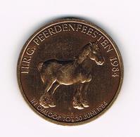 &-   TORHOUT  H.R.G. PEERDENFEESTEN 1984 - 100 WYNDAELERS PROEFSLAG - Tokens Of Communes