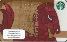 Thailand Starbucks Card  Year Of The Horse  - 2013-6093 - Gift Cards
