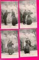 Serie De 6   Cpa  Cartes Postales Ancienne    - Fantaisie Coulpe L Age Heureux Lagriffe Paris - Coppie