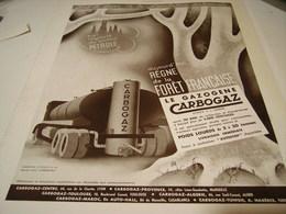 ANCIENNE AFFICHE PUBLICITE LE GAZOGENE DE CARBOGAZ 1941 - Cars