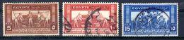 15.2.1931; Landwirtschafts- Und Industrieausstellung, Mi-Nr. 153 - 155; Gest. Los 49912 - Egypt