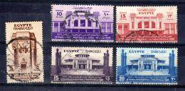 15.2.1936; Landwirtschafts- Und Industrieausstellung, Mi-Nr. 208 - 212  Gest. Los 49914 - Egypt