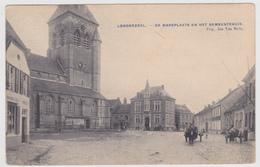Londerzeel - Marktplaats En Gemeentehuis - Links Herberg Van Ingelgem - Geanimeerd - 1919 - Uitg. Jan Van Melle - Londerzeel