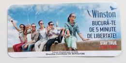 ROMANIA-CIGARETTES  CARD,NOT GOOD SHAPE-0.94X 0.45 CM - Tabac (objets Liés)