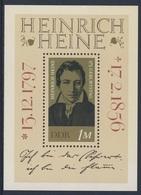 DDR Germany 1972 B37 = Mi 1814 ** Heinrich Heine (1797-1856) German Poet, Journalist, Essayist / Dichter, Satiriker - Schrijvers