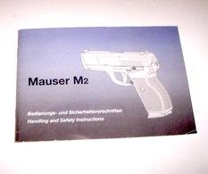 Armi - Brochure Istruzioni Pistola Mauser M2 Sicherheitsvorschriften - Altri