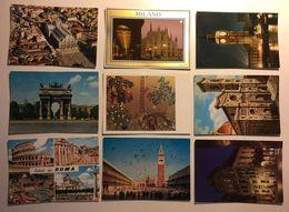 Lotto Cartoline - Milano - London - Firenze - Roma Venezia Venice Rome Bruxelles - Cartoline